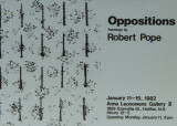 Invitation card to Oppositions exhibition thumb