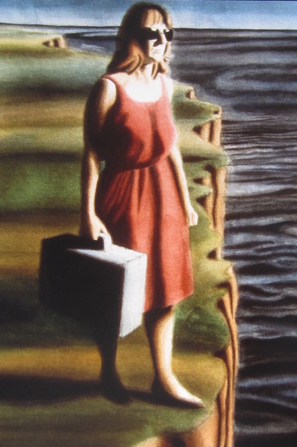 Woman with Suitcase large
