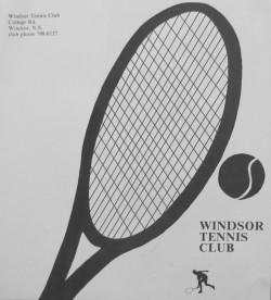 Windsor Tennis Club by Robert Pope