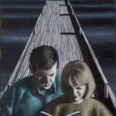 Couple Reading on a Wharf thumb