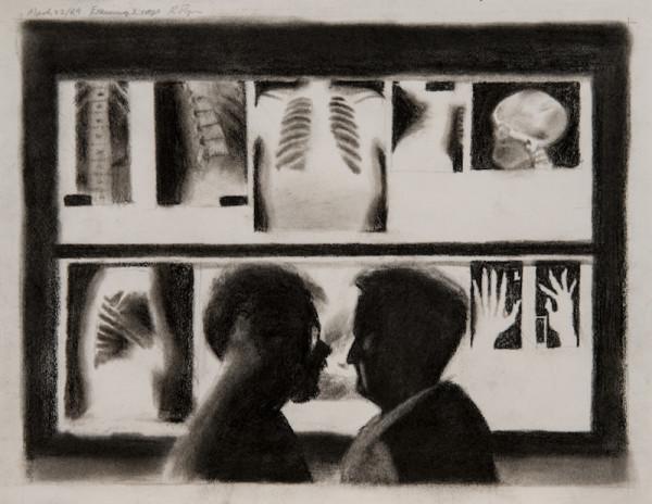Examining x-rays large